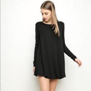 Brandy Melville black tunic dress OS